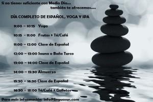 dia entero español yoga y spa
