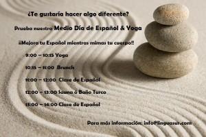 media dia español & yoga