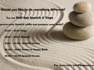 HALF DAY AND FULL DAY SPANISH, YOGA AND SPA